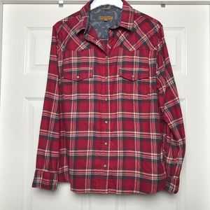 Jachs Girlfriend | Plaid and Paisley Flannel Shirt
